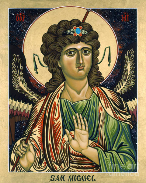 Painting - San Miguel Arcangel - St. Michael The Archangel - Lwmaa by Lewis Williams OFS
