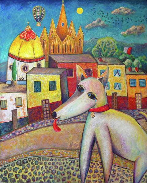 Wall Art - Painting - San Miguel Dog by Andrew Osta