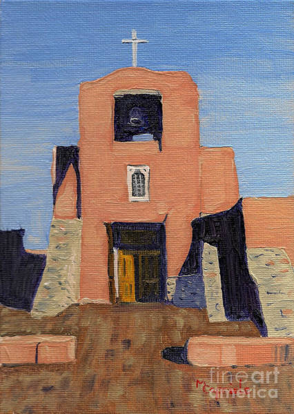 San Miguel Mission In Santa Fe Art Print