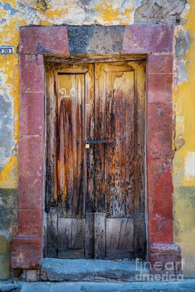 Wall Art - Photograph - San Miguel Old Door by Inge Johnsson
