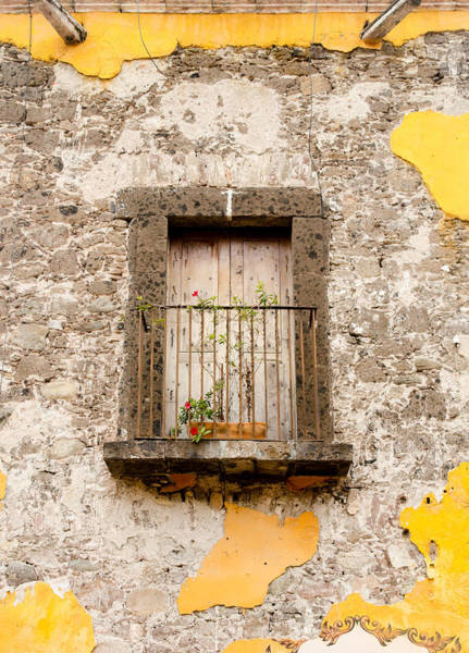 Photograph - San Miguel Wall Losing Stucco by Rob Huntley