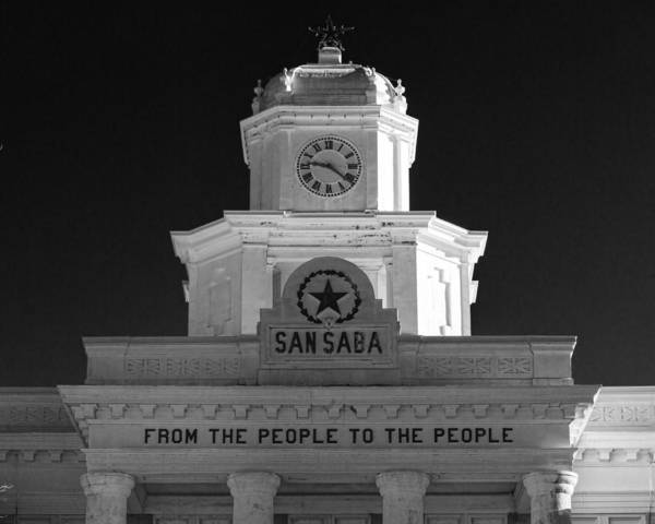Wall Art - Photograph - San Saba Couthouse by Stephen Stookey