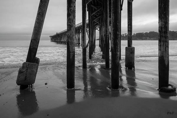 Photograph - San Simeon Pier I Bw by David Gordon