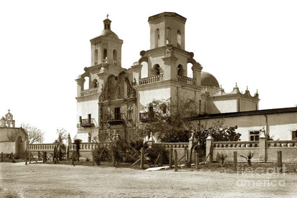 Photograph - San Xavier Mission Del Bac, Near Tucson, Arizona by California Views Archives Mr Pat Hathaway Archives