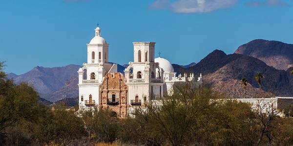 Photograph - San Xavier Mission Tucson by Ed Gleichman