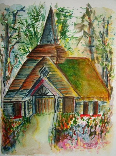 Wall Art - Painting - Sanctuary In The Thicket by Elaine Duras