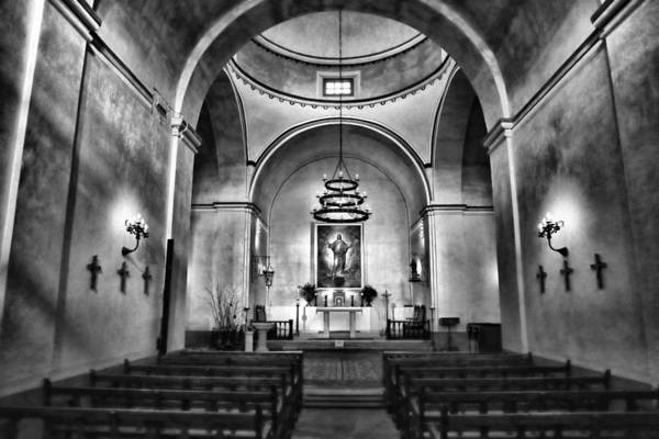 Sacred Heart Photograph - Sanctuary - Mission Concepcion No 2 by Stephen Stookey