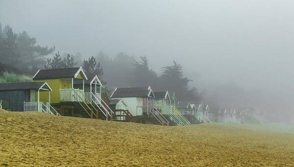 Photograph - Sand And Huts And Fog by Nick Bywater