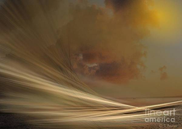 Digital Art - Sand And Sea by Sandra Bauser Digital Art