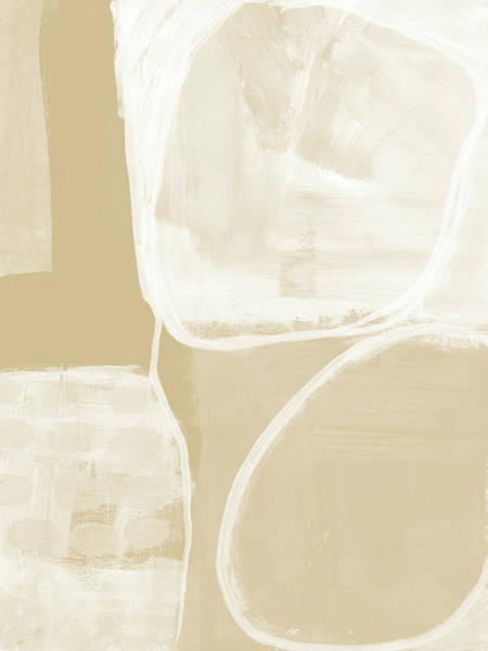 Neutral Wall Art - Painting - Sand And Stone 5- Contemporary Abstract Art By Linda Woods by Linda Woods