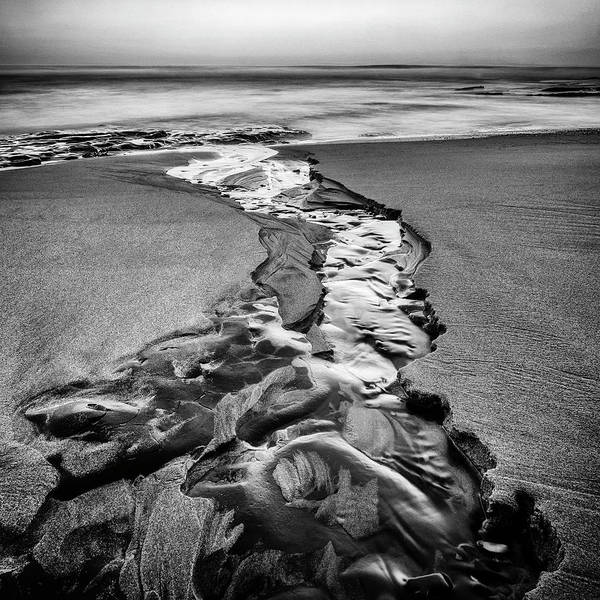 Wall Art - Photograph - Sand And Water by Steve Spiliotopoulos