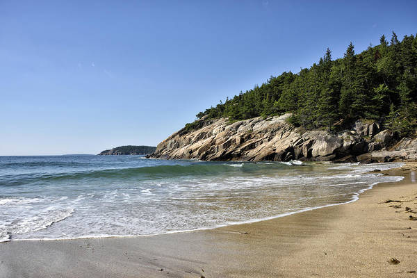 Wall Art - Photograph - Sand Beach In Acadia National Park - Maine by Brendan Reals