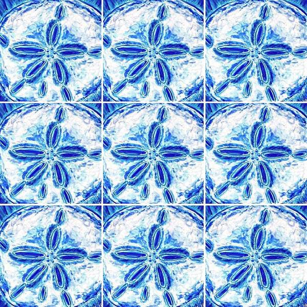 Digital Art - Sand Dollar Delight Pattern 3 by Monique Faella