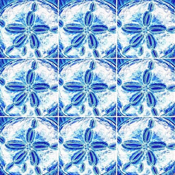 Sand Dollar Delight Pattern 3 Art Print