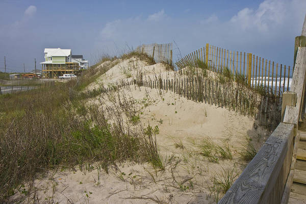 Barrier Photograph - Sand Dunes II by Betsy Knapp