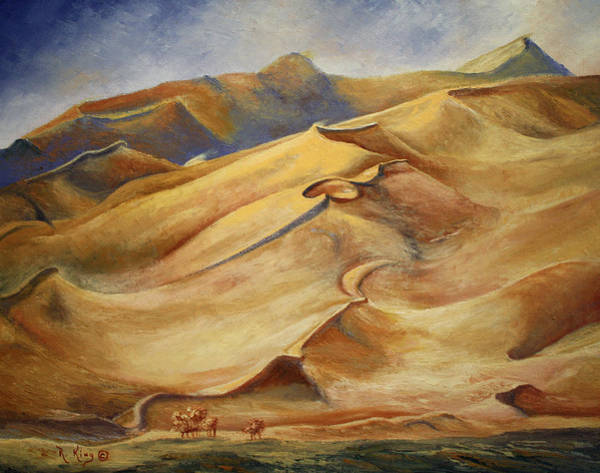 Wall Art - Painting - Sand Dunes by Roena King