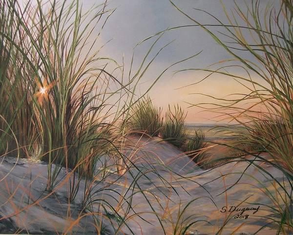 Tallgrass Wall Art - Painting - Sand Dunes  by Sharon Duguay