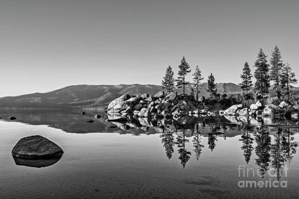 Wall Art - Photograph - Sand Harbor Mirror by Jamie Pham