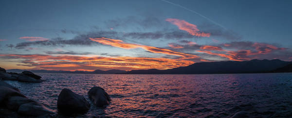 Photograph - Sand Harbor Sunset Pano2 by Martin Gollery
