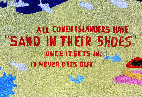 Photograph - Sand In Their Shoes Coney Island by John Rizzuto