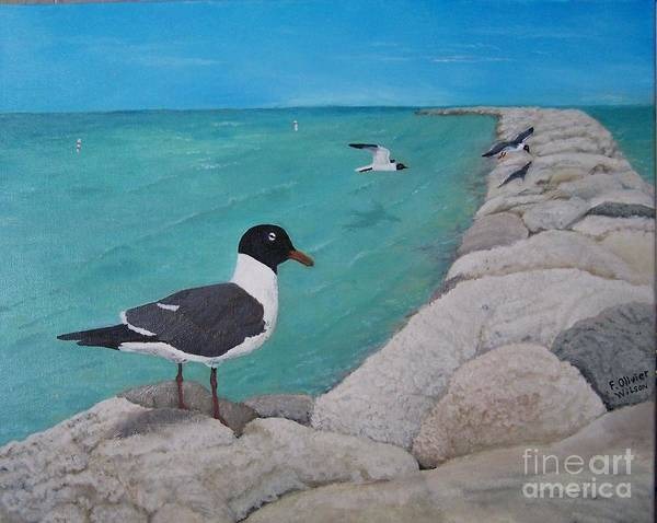 Jetti Wall Art - Painting - Sand Key by Francine Wilson