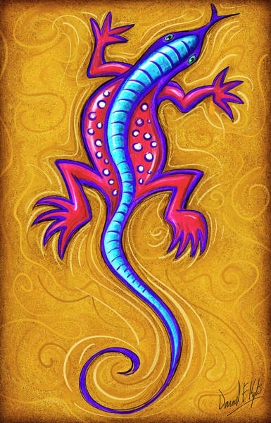 Lizard Painting - Sand Lizard by David Kyte