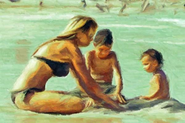 Digital Art - Sand Play by Caito Junqueira