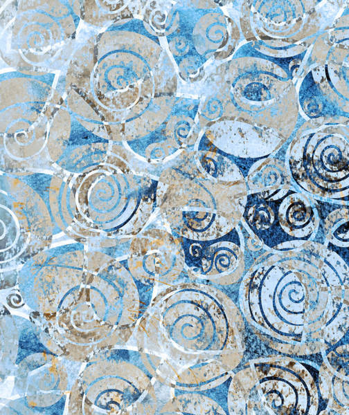 Seashells Painting - Sand, Sea And Seashells by Frank Tschakert