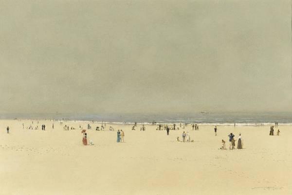 Phantasy Wall Art - Painting - Sand Sea And Sky A Summer Phantasy by John Atkinson Grimshaw