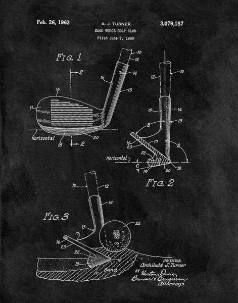 Drawing - Sand Wedge Patent by Dan Sproul