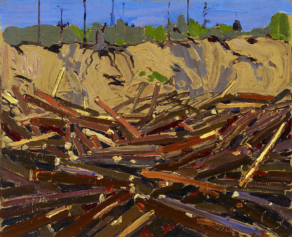 Painting - Sandbank With Logs by Tom Thomson
