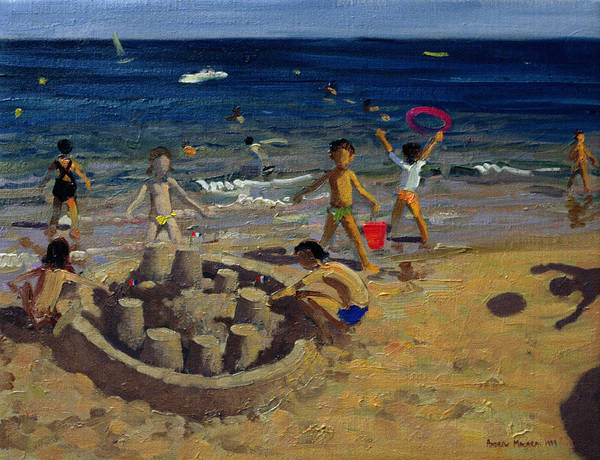 Sand Castle Painting - Sandcastle by Andrew Macara