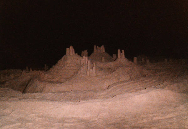 Wall Art - Photograph - Sandcastle At Night by Candace Shockley