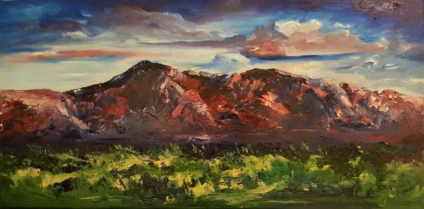 Painting - Sandia Mountains New Mexico by Cheryl Nancy Ann Gordon