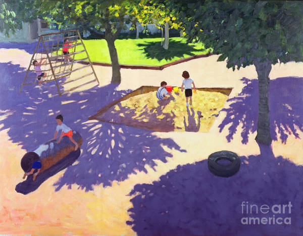 Macara Wall Art - Painting - Sandpit by Andrew Macara