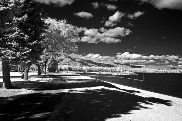 Photograph - Sandpoint City Beach In Infrared by Lee Santa