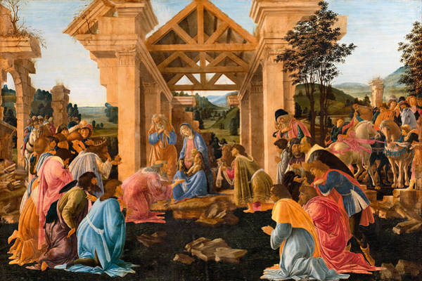 Photograph - Sandro Botticelli by The Adoration of the Magi