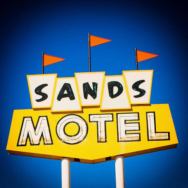 Photograph - Sands Motel Vintage Neon Sign by Gigi Ebert