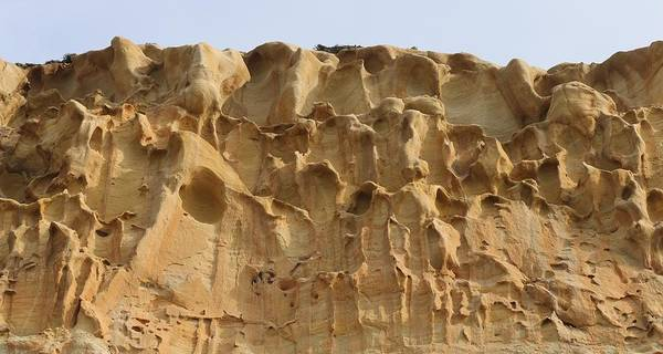 Photograph - Sandstone Cliff - 3 by Christy Pooschke