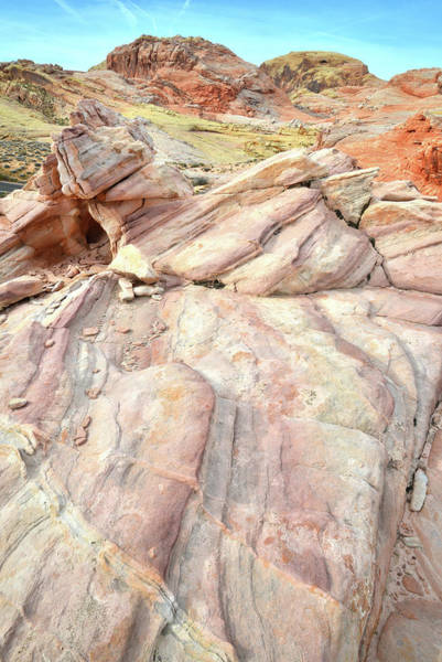 Photograph - Sandstone Cliff Above Wash 3 In Valley Of Fire by Ray Mathis