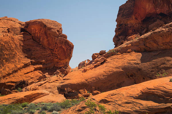 Wall Art - Photograph - Sandstone Cliffs Valley Of Fire by Frank Wilson