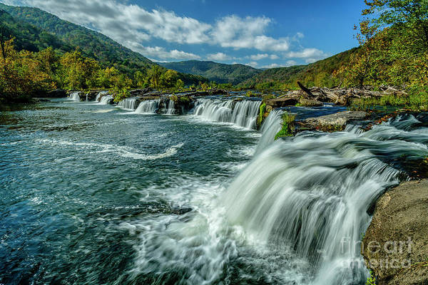 Photograph - Sandstone Falls New River  by Thomas R Fletcher