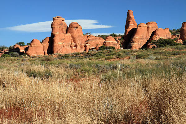 Photograph - Sandstone Formation In Arches National Park by Pierre Leclerc Photography