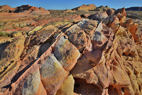 Photograph - Sandstone Rainbow In Wash 3 Of Valley Of Fire by Ray Mathis