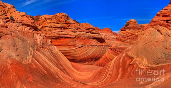 Photograph - Sandstone Wave Panorama by Adam Jewell