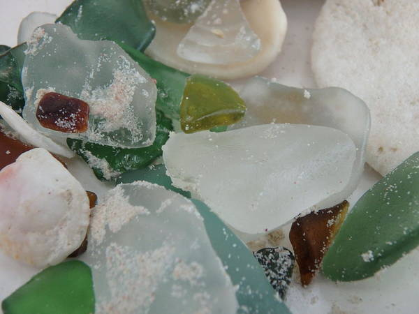 Photograph - Sandy Beach Glass by Kimberly Perry