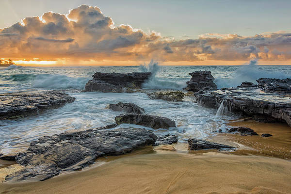 Wall Art - Photograph - Sandy Beach Sunrise 12 - Oahu Hawaii by Brian Harig