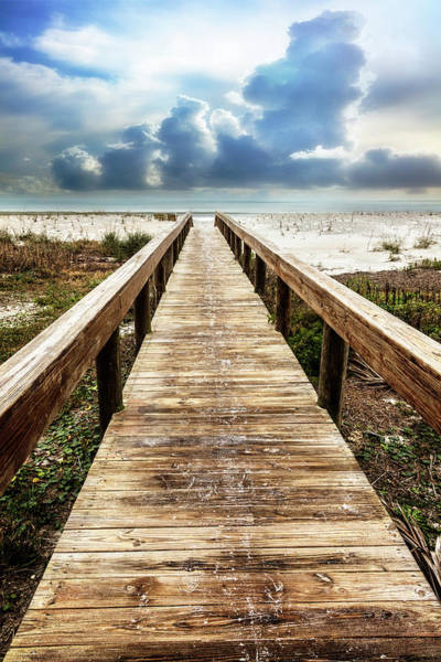 Wall Art - Photograph - Sandy Boardwalk On The Dunes by Debra and Dave Vanderlaan