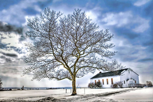 Wall Art - Photograph - Sandy Hook Gateway National Recreation Area Chapel In Snow by Geraldine Scull