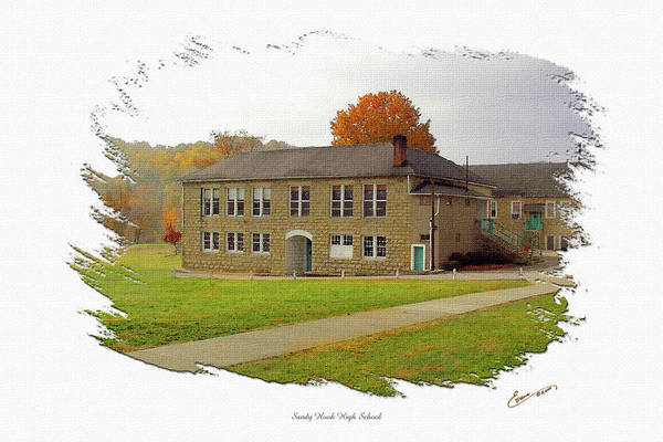 Elliott Digital Art - Sandy Hook High School East Campus by Randall Evans